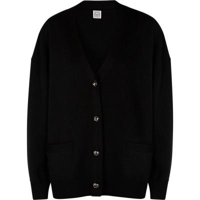 トーテム Toteme レディース カーディガン トップス Vinci Black Merino Wool Cardigan Black