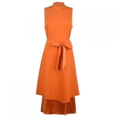 ヒューゴ ボス Hugo レディース パーティードレス ワンピース・ドレス Ketha Dress Orange