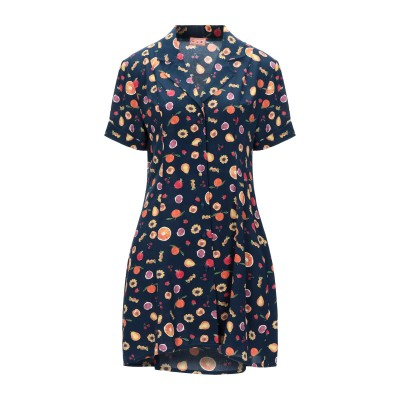 LHD ミニワンピース&ドレス ダークブルー 10 シルク 100% ミニワンピース&ドレス