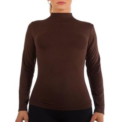 レディース 衣類 トップス Women Long Sleeve Mock Neck Shirt Seamless Stretch Turtleneck Top Slim Fitted M-XL Plus Size