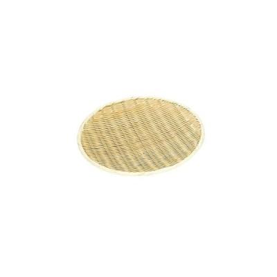 萬洋 竹製 樹脂渕丸盆ザル 18cm