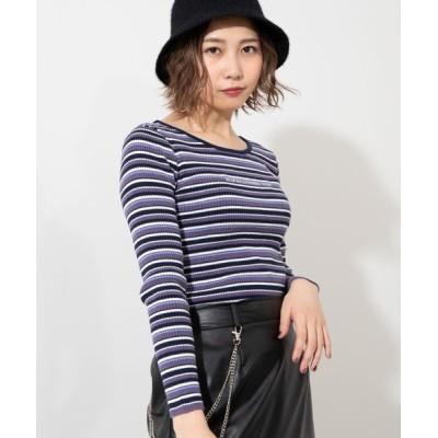 WEGO / WEGO/ワンポイントロゴセーター WOMEN トップス > ニット/セーター