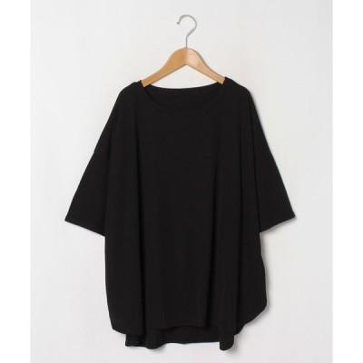 【アハッピーマリリン】【五分袖】 さらりとドライタッチ 褒められ美人な 裾ラウンド 細魅せ ゆる Tシャツ