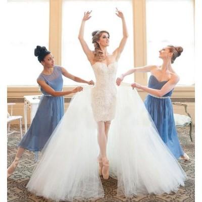 ウェディングドレス 結婚式 花嫁 ドレス ワンピース 高品質 二次会 ピアノ演奏会 旅行 ブライダル パーティードレス セクシー 2way 演奏会 発表会用ドレス