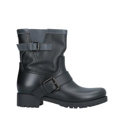MÈNGHI ショートブーツ ブラック 41 ゴム / 紡績繊維 ショートブーツ