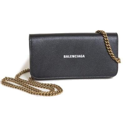 バレンシアガ チェーンウォレット BALENCIAGA CASH WALLET ON CHAIN 593784 1IZ4M 1090 ブラック