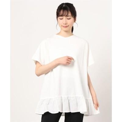 tシャツ Tシャツ ventblanc:SZ天竺/ヨーロッパリネン フリルT-シャツ
