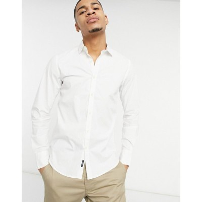 リプレイ Replay メンズ シャツ トップス Long Sleeve Shirt In White ホワイト