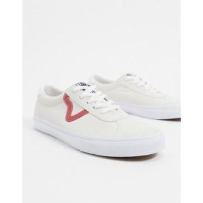 バンズ メンズ スニーカー シューズ Vans Sport sneakers in cream/red Cream/red
