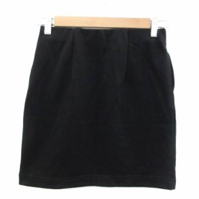 【中古】ブラウニー BROWNY スカート タイト ミニ丈 F ブラック 黒 /YM13 レディース