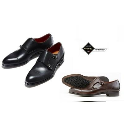 madras Walk M754S ゴアテックス/フットウェア 防水 紳士靴 ビジネスシューズ (ブラック/ダークブラン)3E 本革