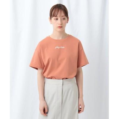 INDIVI(インディヴィ) 「S」ロゴ半袖Tシャツ