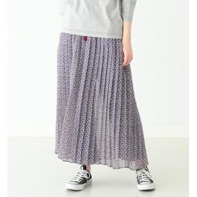 【ビームス ウィメン/BEAMS WOMEN】 BEAMS BOY / ストライプシフォン フラワープリント スカート