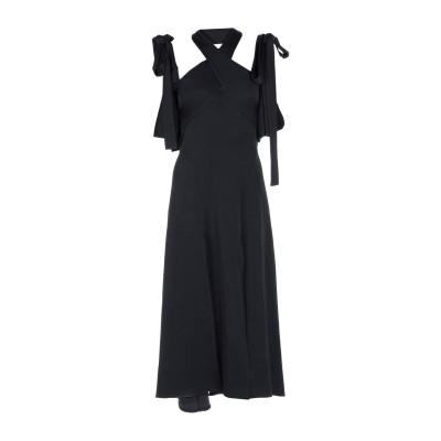 エラリー ELLERY ロングワンピース&ドレス ブラック 4 アセテート 80% / ポリエステル 20% ロングワンピース&ドレス