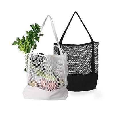 Lilyan エコバッグ 折りたたみ トートバッグ 買い物袋 コンパクト 2枚セット 大容量キャンバス おしゃれ 人気 丈夫 軽量 簡単 シ