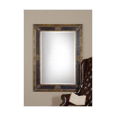 【並行輸入品】Intelligent Design Ornate Extra Large Black Gold Wall Mirror   Masculine Antique