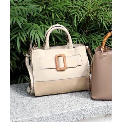 トートバッグ バッグ 樹脂バックル2wayミニトートバッグ