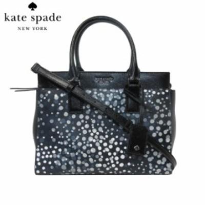 ケイト・スペード アウトレット kate spade ハンドバッグ WKRU6357Z-974 型押しレザー ドット柄 プリント ストラップ付 2WAY ハンドバッ