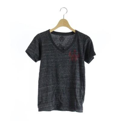 【中古】クロムハーツ CHROME HEARTS Tシャツ カットソー 半袖 XS チャコール グレー /MR1 レディース 【ベクトル 古着】