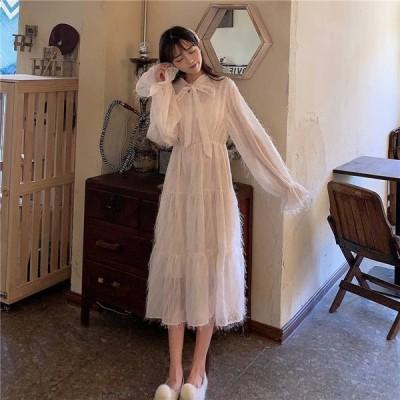 パーティードレス 結婚式 お呼ばれドレス 20代 30代 40代 袖あり 結婚式 ワンピース ミモレ丈ワンピース パーティードレス 結婚式 お呼ばれドレス お呼ばれ