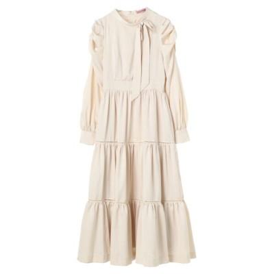 (Maison de FLEUR Petite Robe/メゾンドフルール プチローブ)ボウタイドレス/レディース アイボリー