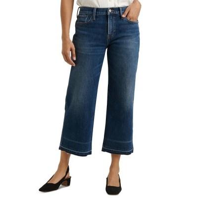 ラッキーブランド デニムパンツ ボトムス レディース Mid-Rise Wide-Leg Cropped Jeans Marina