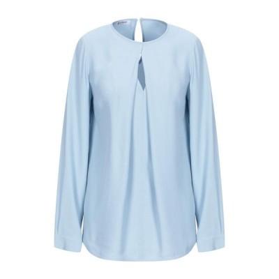 DONDUP ブラウス ファッション  レディースファッション  トップス  シャツ、ブラウス  長袖 スカイブルー