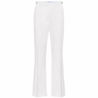 ミュグレー Mugler レディース ボトムス・パンツ Mid-rise flared stretch-wool pants Off White