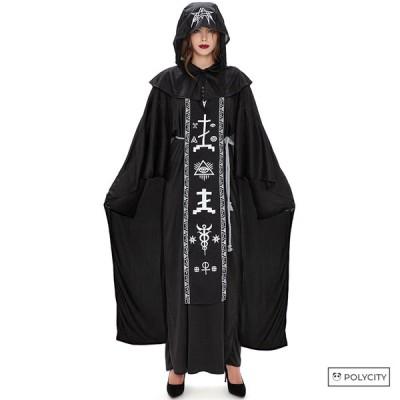 ハロウィン ウィザードローブ 邪悪な魔法使い カップル服 ウーマン マスカレード コスプレ