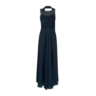 MUSANI ロングワンピース&ドレス ダークブルー 44 ポリエステル 100% ロングワンピース&ドレス