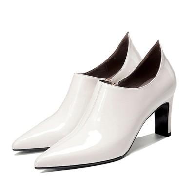 レディース パンプス パーティー 結婚式 靴 牛革 本革 安定性抜群 ブラック グレー グラデーション 20代 30代 40代 50代 【送料無料】