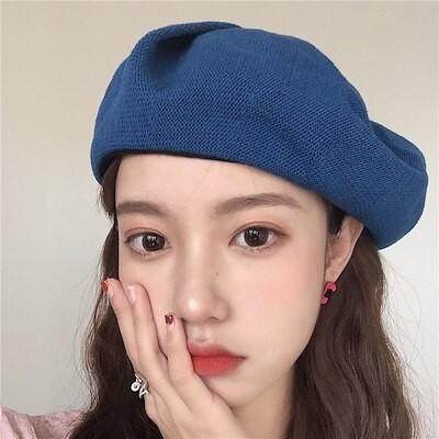 (ブティック)ベレー帽の女性は春の夏に空気を通す薄いタイプのビッグサイズの復古的なメリヤスのゆったりした画家の八角帽の韓版ins潮