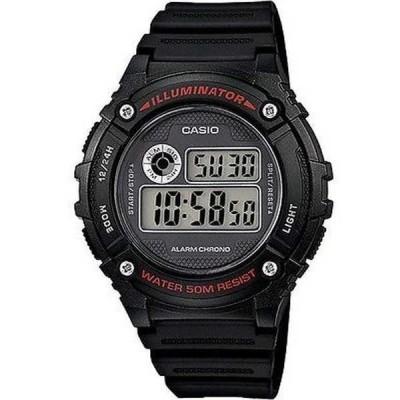 腕時計 カシオ Casio W216H-1A メンズ LED ライト クロノグラフ アラーム デジタル 50M WR スポーツ 腕時計