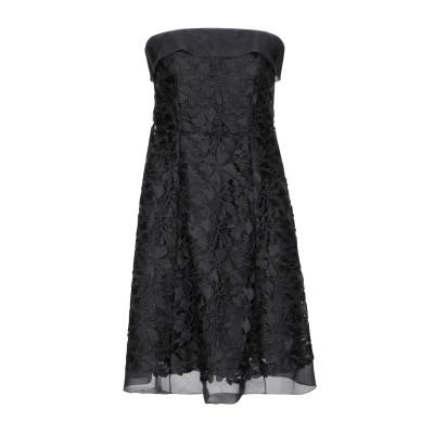 MARIA GRAZIA SEVERI ミニワンピース&ドレス ブラック 42 100% ポリエステル シルク ミニワンピース&ドレス