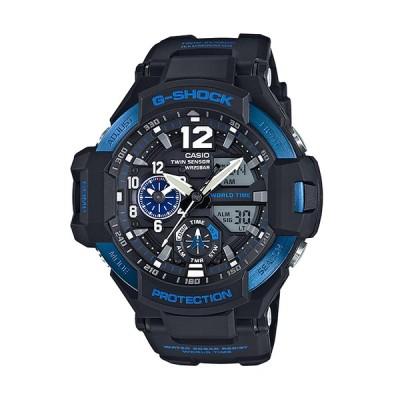 G-SHOCK Gショック マスターオブG GRAVITYMASTER グラビティマスター カシオ CASIO アナデジ 腕時計 ブラック ブルー  GA-1100-2B 逆輸入海外モデル
