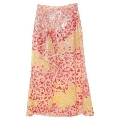 AINEA ロングスカート  レディースファッション  ボトムス  スカート  ロング、マキシ丈スカート ローズピンク