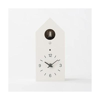 無印良品 鳩時計 掛置時計・ホワイト 15832491 幅95×奥行108×高さ204mm