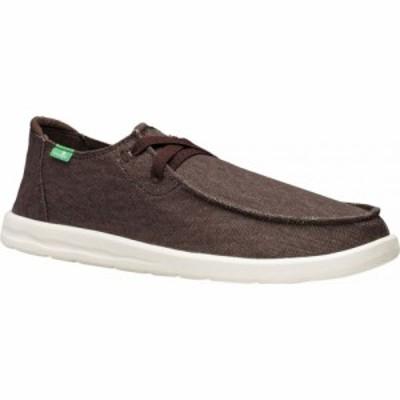 サヌーク Sanuk メンズ スニーカー シューズ・靴 Shaka Moc Toe Sneaker Brown Canvas