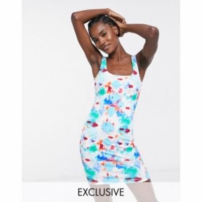 エイソス ASOS MADE IN レディース ボディコンドレス ワンピース・ドレス Kenya Bodycon Dress In Splodge Print
