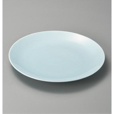 大皿 盛皿 青地10.0丸皿 陶器 器 萬古焼 日本製