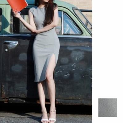韓国 ファッション レディース ワンピース 夏 春 カジュアル naloA137  ノーカラー ベーシック ジャケットコーデ パーティー シンプル コ