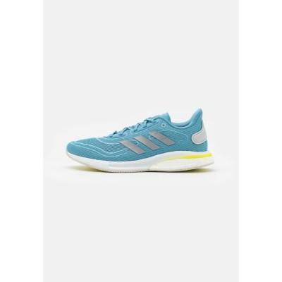 アディダス シューズ レディース ランニング SUPERNOVA - Neutral running shoes - haze blue/acid yellow