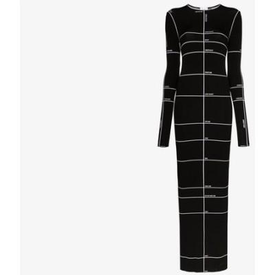 ヴェトモン Vetements レディース ワンピース マキシ丈 ワンピース・ドレス body measurements print maxi dress black