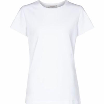 ドロシー シューマッハ Dorothee Schumacher レディース Tシャツ トップス Set of 2 stretch-cotton jersey T-shirts Camellia White