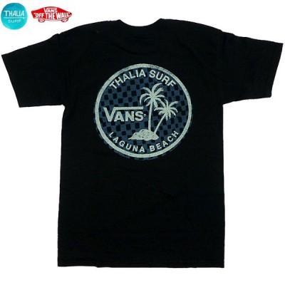 US限定 Vans×Thalia Laguna Tee ヴァンズ タリアサーフショップ コラボ トロピカル Tシャツ カリフォルニア限定 黒【ゆうパケット対応】