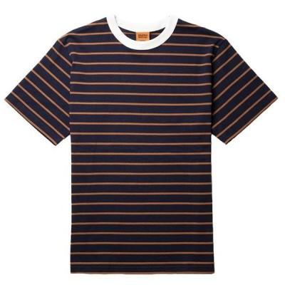 リズム メンズ Tシャツ トップス Rhythm Vintage Stripe T-Shirt