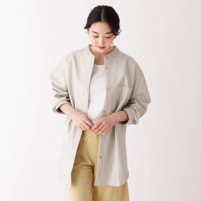シューラルー SHOO-LA-RUE エコレザーシャツジャケット (ナチュラル)