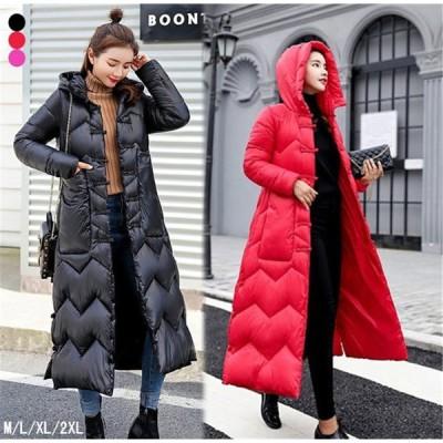 ダウンジャケット レディース ダウンコート フード付き 中綿ジャケット アウター 暖かい 防風防寒 冬服 冬物 大きいサイズ