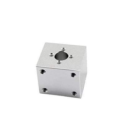 T8 trapezoidal Screw nut housing White mounting Bracket Aluminum for T8 Screw Brass nut Engraving Machine