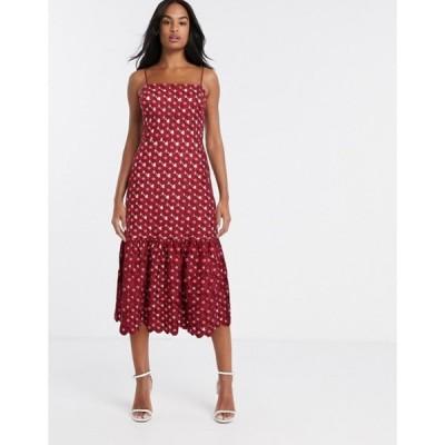 テルーラ レディース ワンピース トップス Talulah Lady of Luxury crochet midi dress